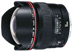 Canon EF14mm f/2.8L USM ultra wide lens