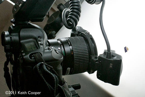 MP-E65 lens with MT-24ex flash unit